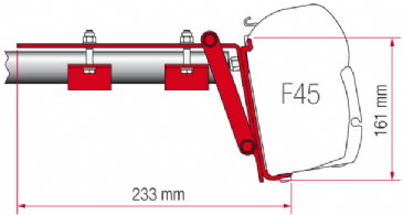 Fiamma F45 Awning Adapter Kit - Kit Roof Rail Compass
